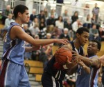 Isaac Copeland double-teamed