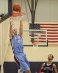 Josh Sharma dunks