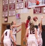 Jackie Ham (#2) gets to the basket