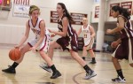 Aly Leahy double teamed