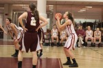 Aly Leahy lines up a free throw