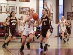 Abbie Bresnahan drives on Andrea Terranova