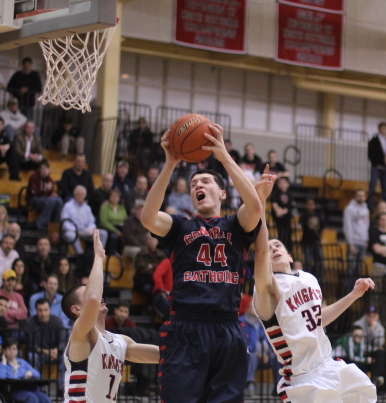 Nick Cambio (13 points) dominated the inside for Central Catholic