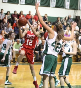 Hannah Kiernan gets to the basket