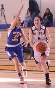 Kayla Riley (17 points) sights the basket