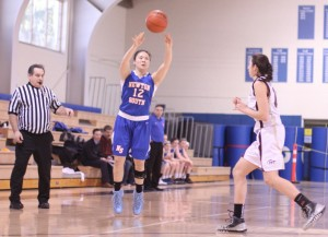 Emily Chang (23 points) fires a three