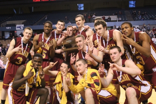 Cardinal Spellman players celebrate D3 state title