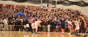 Eagles student section tries to distract free throw shooter Nick Cambio