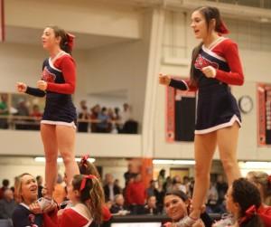 Central Catholic cheerleaders