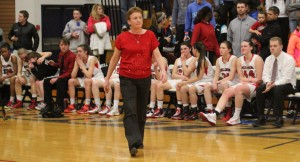 Bedford coach Sue Thomas