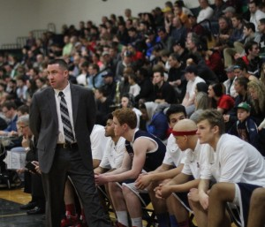 Brewster coach Jason Smith watches the action