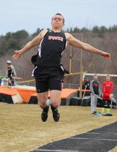 Matt Jaeger (he won triple jump) in the long jump