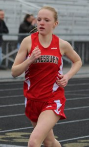 Julia Shorter gets first in mile run