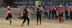 Carly Siemasko catches a popup