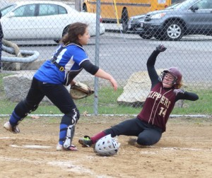 Amy Sullivan slides home