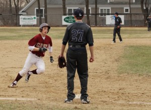Scott Webster heads home with the second Newburyport run