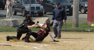 Meghan Stanton slides in with the 6th Newburyport run