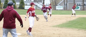 Anthony Ciaromitaro (#18) heads for third