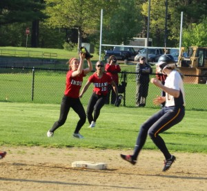 Second baseman Lauren Fedorchak squeezed the final out