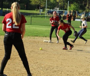 Maddie Napoli looks for the handle