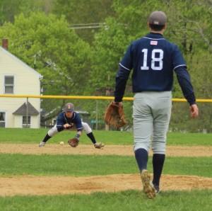 Shortstop Jordan Roper fields a grounder