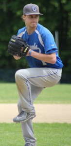 Winning pitcher Pat Slack