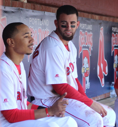 Mookie Betts and Deven Marrero
