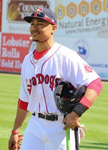 Mookie Betts pregame