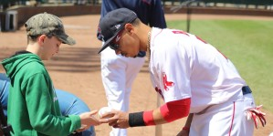 Mookie Betts signs
