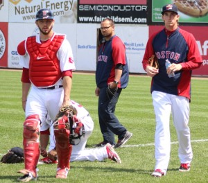 catcher Blake Swihart and pitcher Henry Owens
