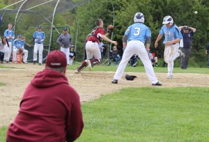 Billy Mical (#9) scores the Triton run in the second