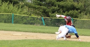 Chance Carpenter avoids the tag at second