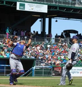 Binghamton catcher Xorge Carrillo eyes a popup