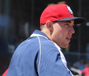 Aaron Sanchez in the dugout