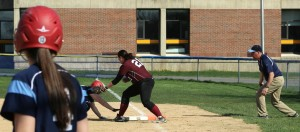 Lily Anderson nearly picked off first base