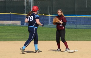 Lily Anderson doubled off second
