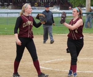 Morgan Johnston and Vicki Allman after the 9th Newburyport win