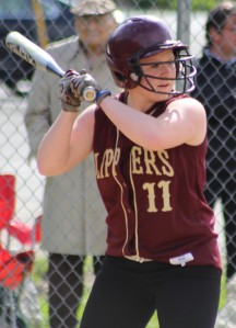 Shelby OBrien hit a 3-run homer in the first inning