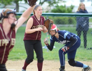 Mara Spears watches the pitcher