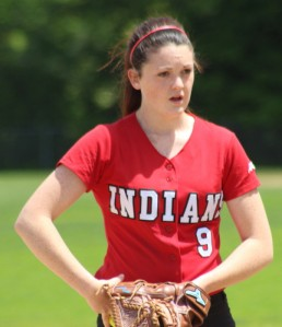 Pitcher Rachel Cyr allowed only two hits