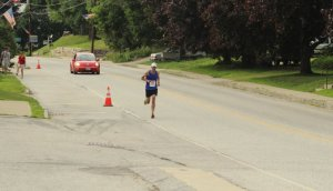 David Krall runs alone to victory