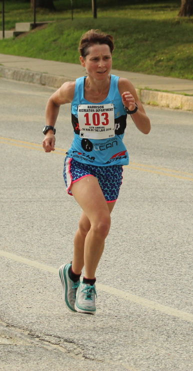 Jen Rohde was 10th overall and first among the women finishers