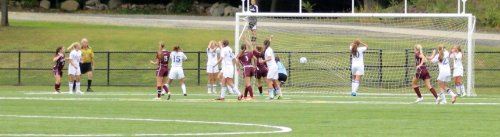 A deflection off a Newtown defender gives Bethel the eventual game winner