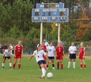 Kaylin Delaney takes a penalty shot