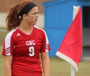 Sarah Giggey had two assists on corner kicks