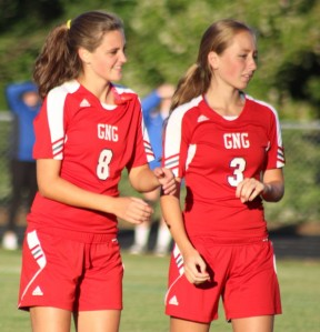 Emma Woods (2 goals) and Hannah Dixon