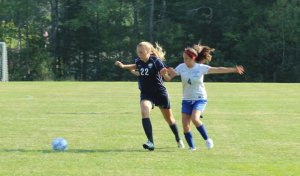 Shannon Todd tries to get away from Maddie Simms