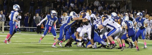 Action in the trenches at the Newtown-Brookfield SWC game