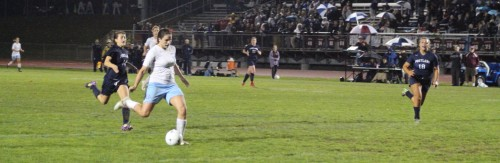Ciera Berthiaume unleashes the game winner versus Portland in the Class A West quarterfinals