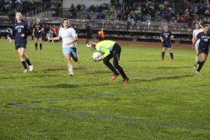 Portland GK Taylor Crosby had 24 saves in a very busy night.